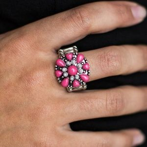 Vintage Paparazzi!!  Summer Haze - Pink Ring